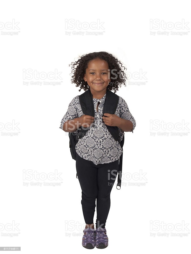 elementary schoolgirl stock photo