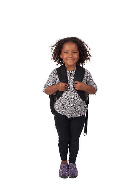 elementary schoolgirl stock photo