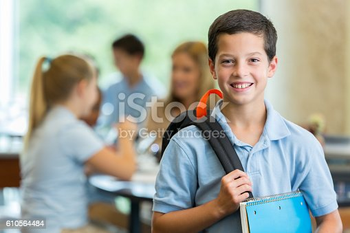istock Elementary student in classroom 610564484