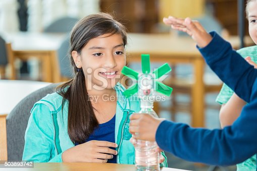 648947070 istock photo Elementary students learning about wind energy during science class 503893742