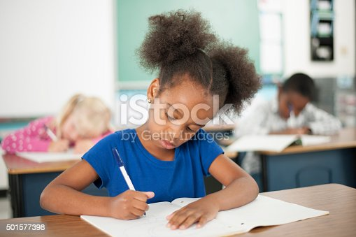 istock Elementary Students Taking a Quiz 501577398