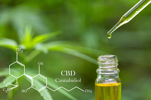 1134024584 istock photo CBD elements in Cannabis,  hemp oil in a glass jar,  Concept of herbal alternative medicine. 1180514968