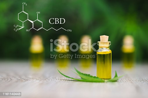 istock CBD  elements in Cannabis, Hemp oil, medical marijuana,  cannabinoids and health. 1161140443