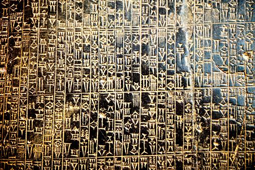 elements of ancient Egyptian cuneiform background