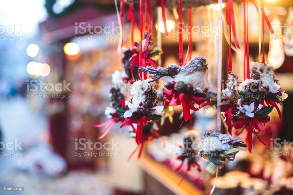 österreich Weihnachtsbaum.Elemente Der Dekoration Weihnachten Neujahr Am Christkindlmarkt In