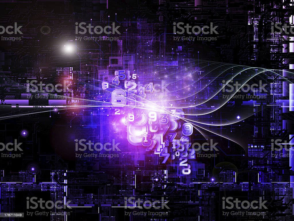 Elements of Digital Network royalty-free stock photo