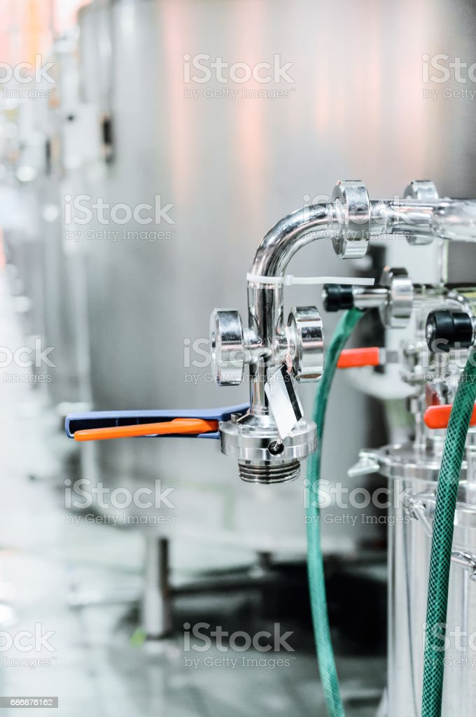 Elements of the filter for beer filtration stock photo