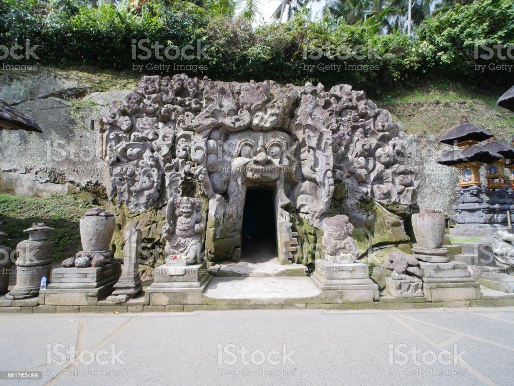 Elephant Cave, Goa Gajah, in Bali stock photo