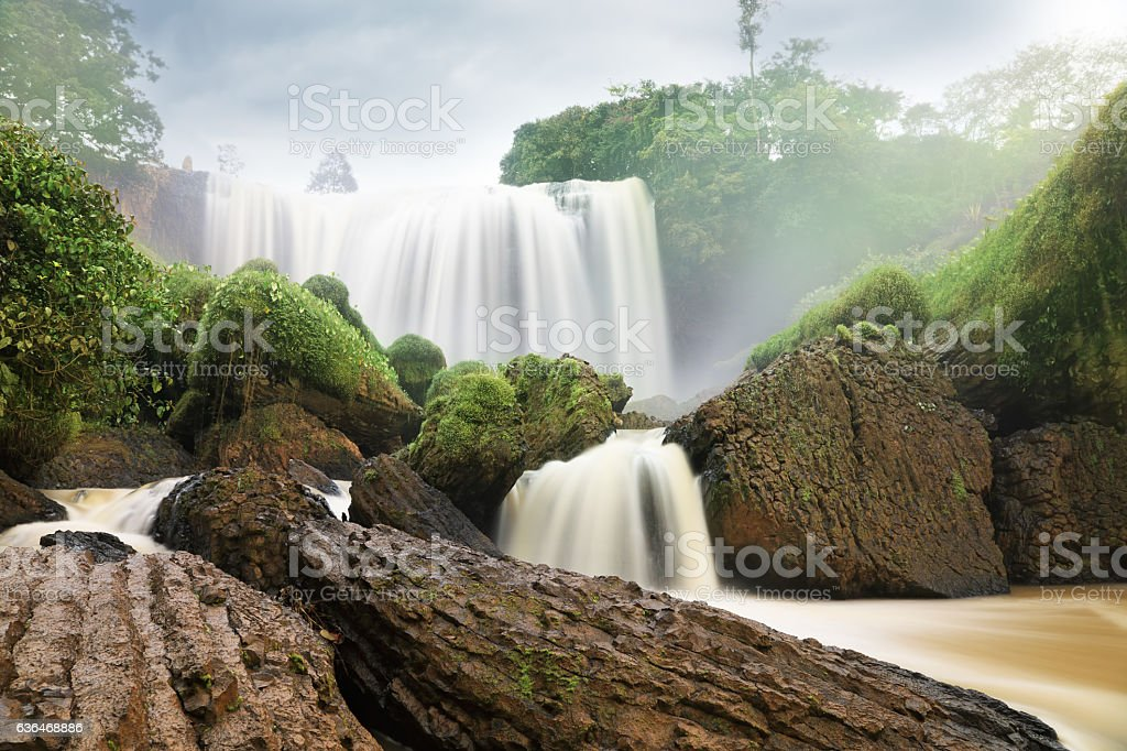 Elephant Falls. Da Lat, Vietnam stock photo