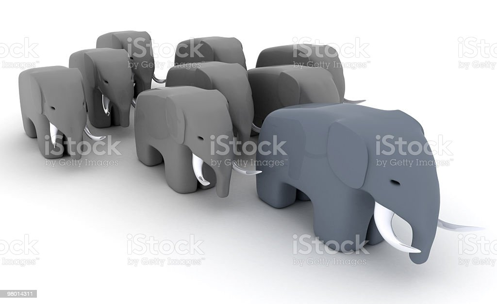 Família de elefante foto royalty-free