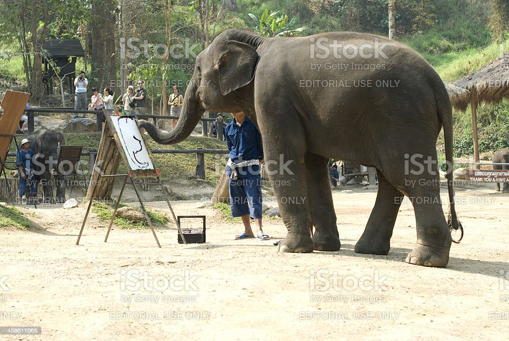 Elephant in painting royalty-free stock photo