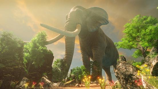 istock Elephant in the wild 1171393202