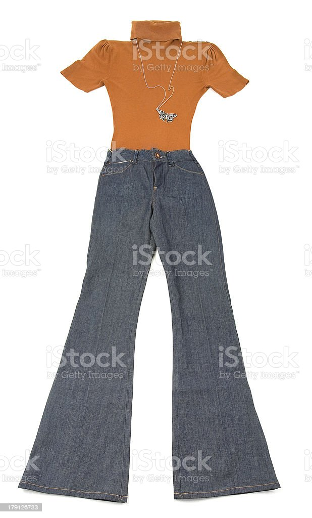 Elephant jeans fashion composition stock photo