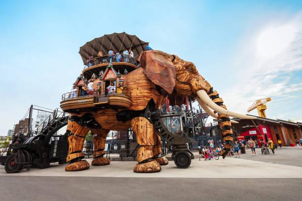 Elephant Machines Isle of Nantes stock photo