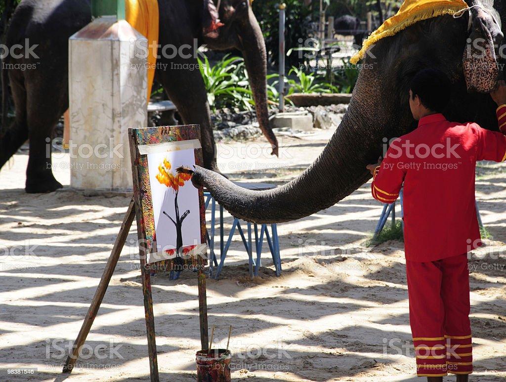 Elephant painting artwork royalty-free stock photo