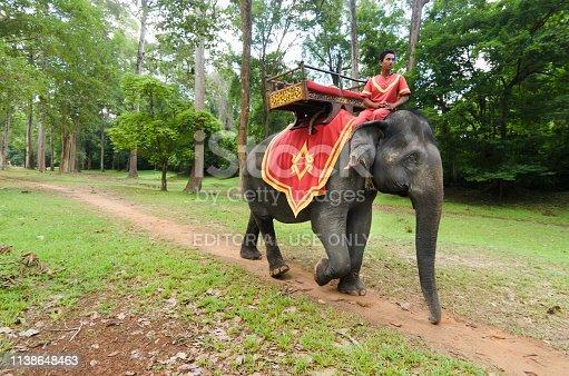 istock Elephant riding in Angkor Wat park 1138648463