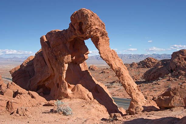 Elephant Rock, Valley of Fire, Nevada stock photo