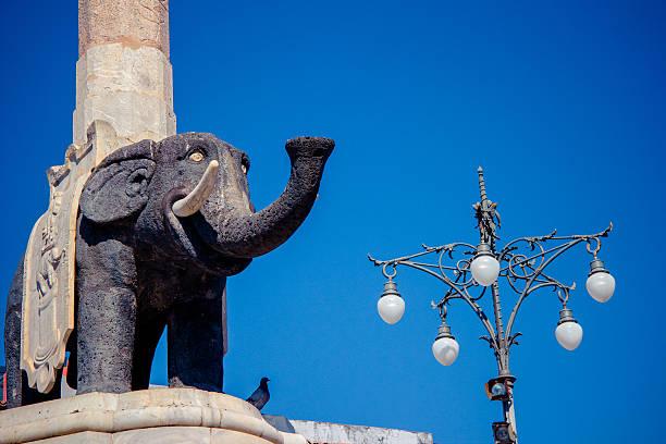 Elephant symbol of Catania, Sicily, Italy stock photo