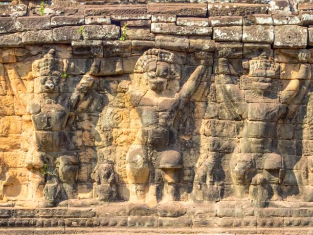 Elephant Terrace - Siem Reap stock photo