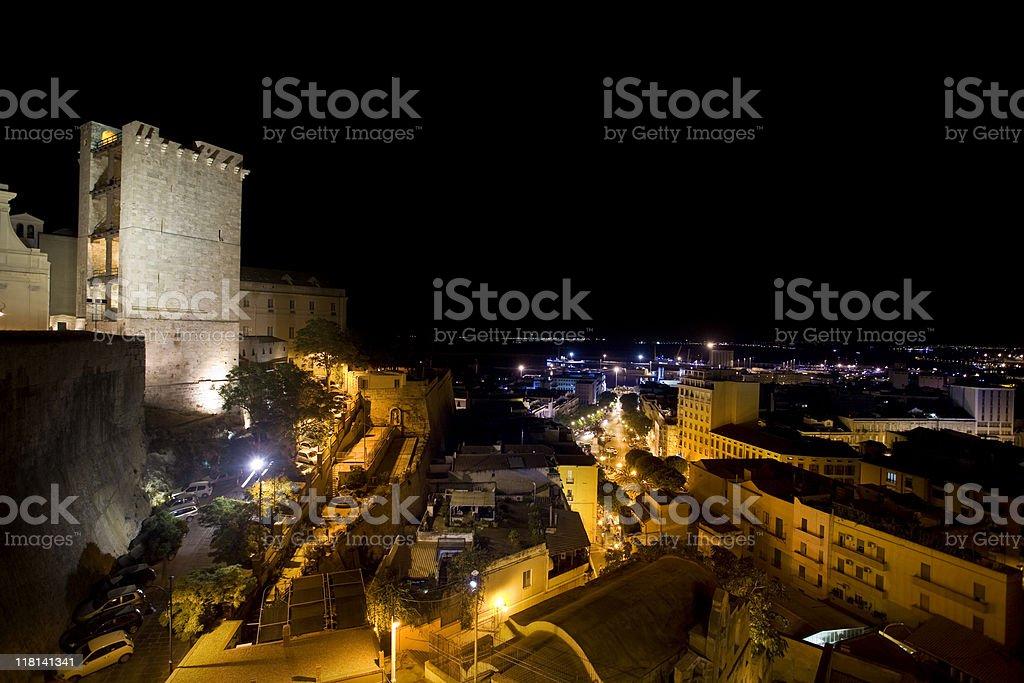 Torre dell'Elefante at Cagliari stock photo