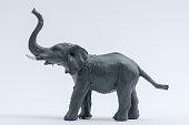 Image of Elephant Toy model isolated on white background,