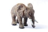 Image of Elephant Toy model isolated on white background.