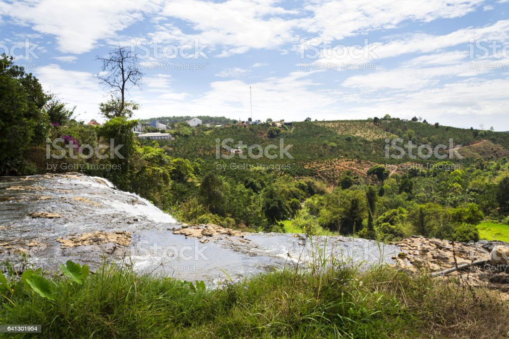 Elephant waterfalls near Nam Ban village, Dalat, Vietnam stock photo