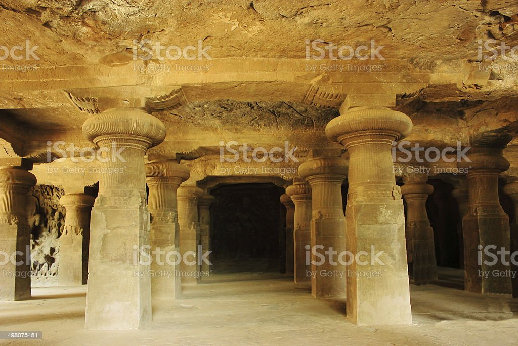Elephanta caves, India stock photo