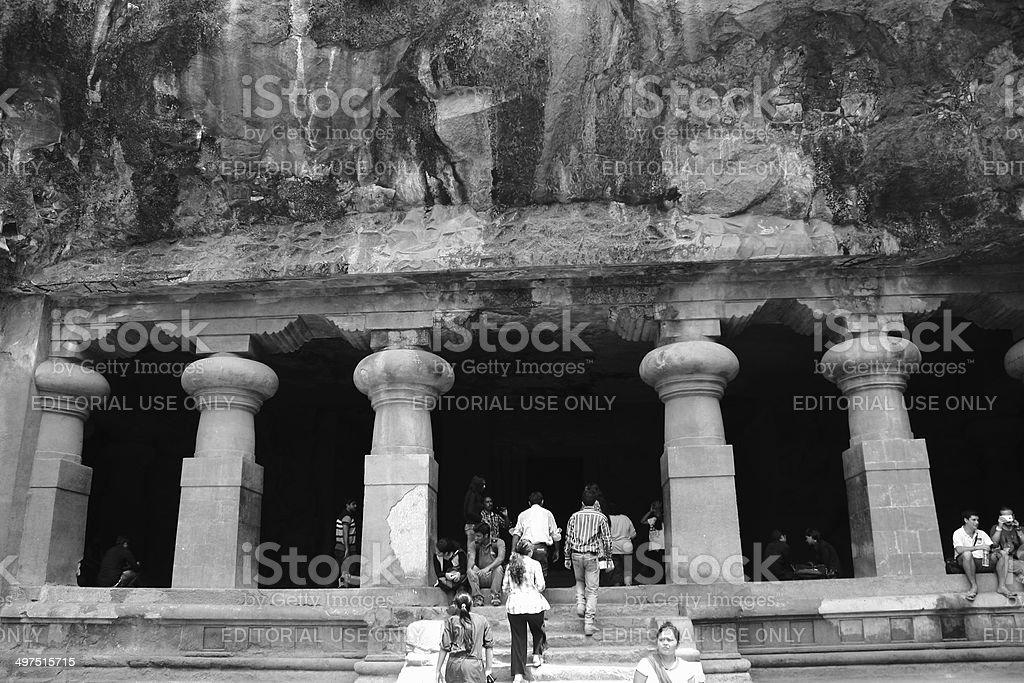Elephanta caves, Mumbai, India royalty-free stock photo