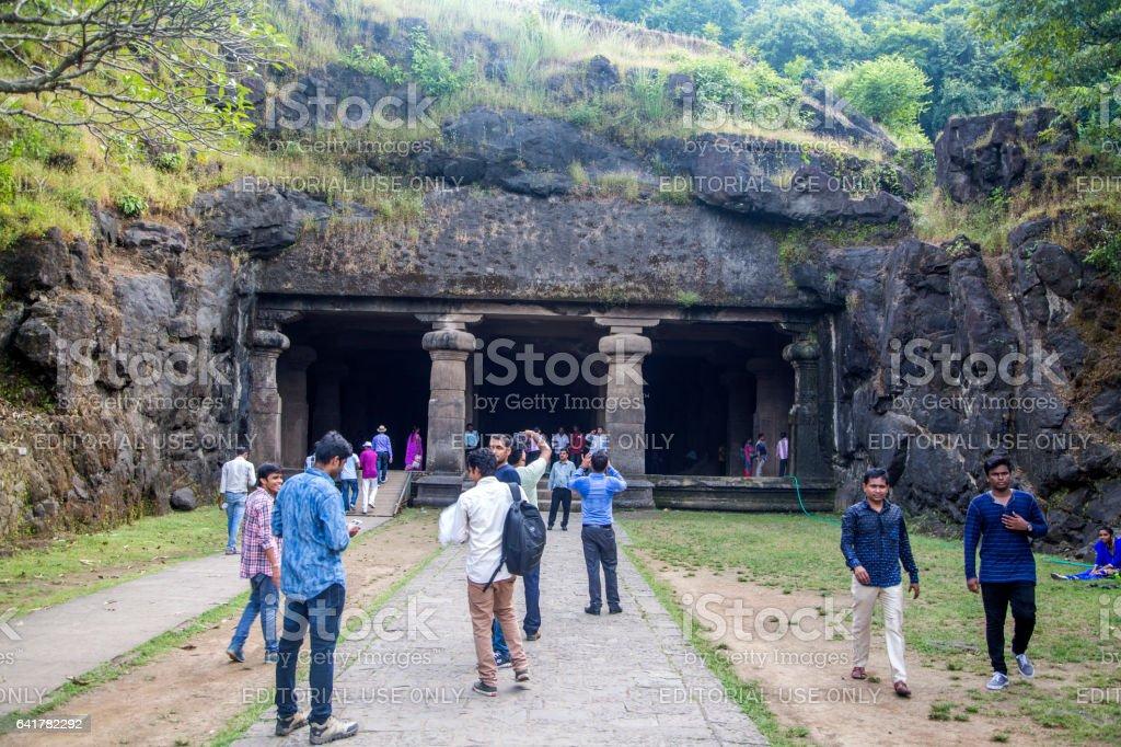 Elephanta island in India stock photo