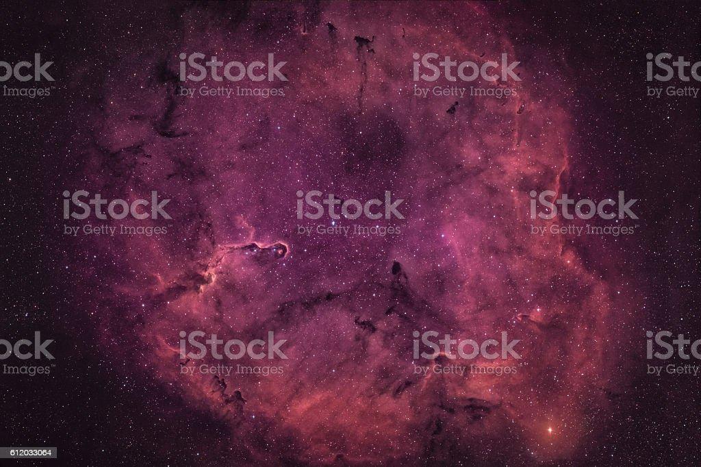 Elephant's Trunk nebula, IC 1396 stock photo