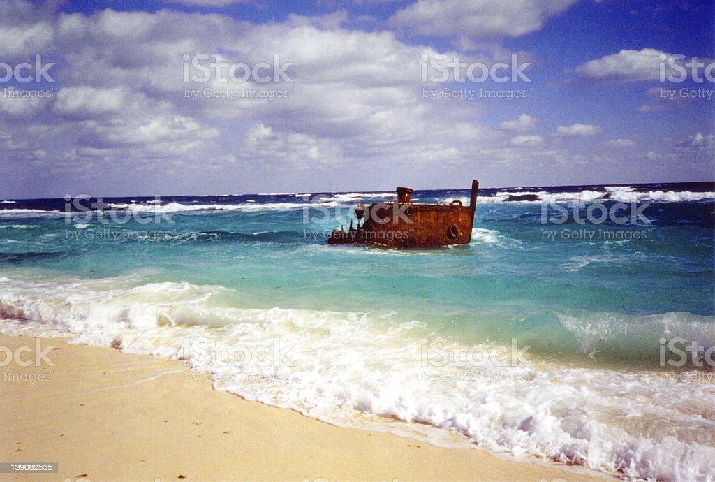 Eleuthera Ship Wreck stock photo