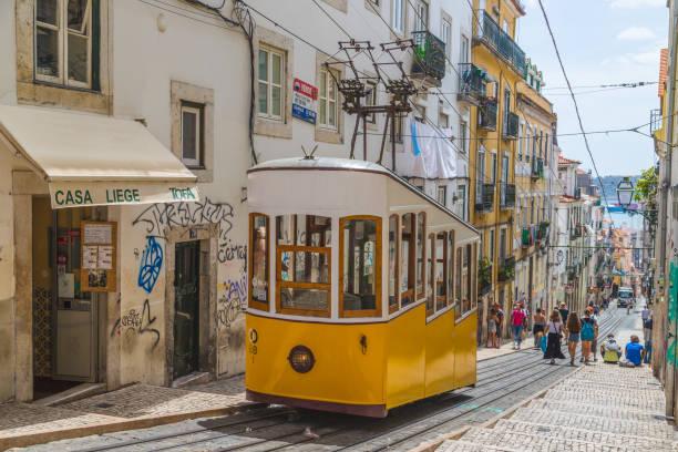 Elevador da Bica in Lisbon stock photo
