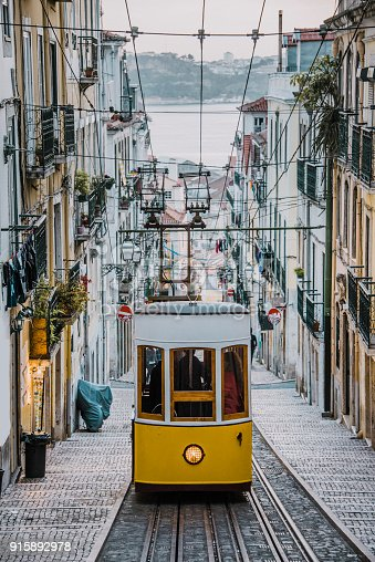 Elevador da Bica in Lisbon, Portugal