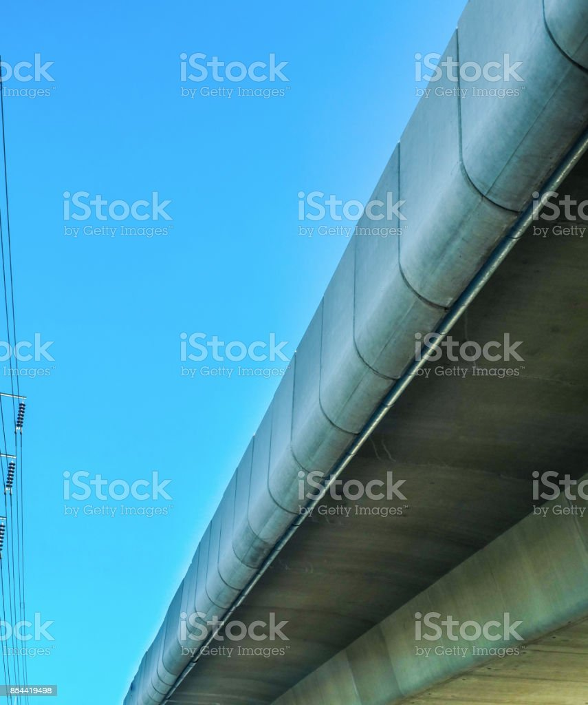 Elevated bridge stock photo