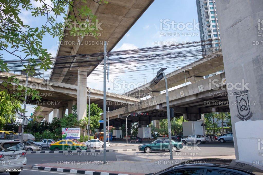 Elevated Causeways In Bangkok, Thailand stock photo