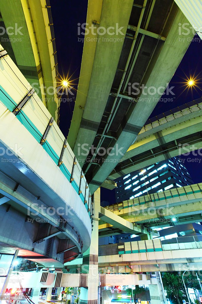 Elevated highway in Tokyo royalty-free stock photo