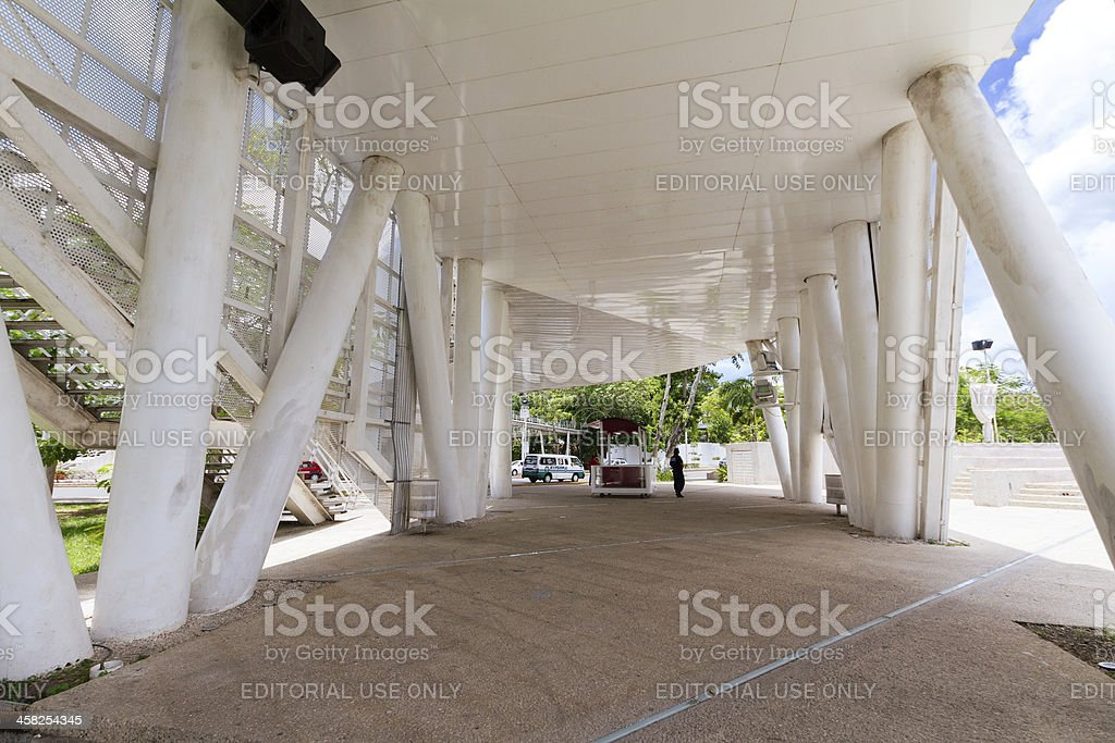 Elevated museum in Villahermosa royalty-free stock photo