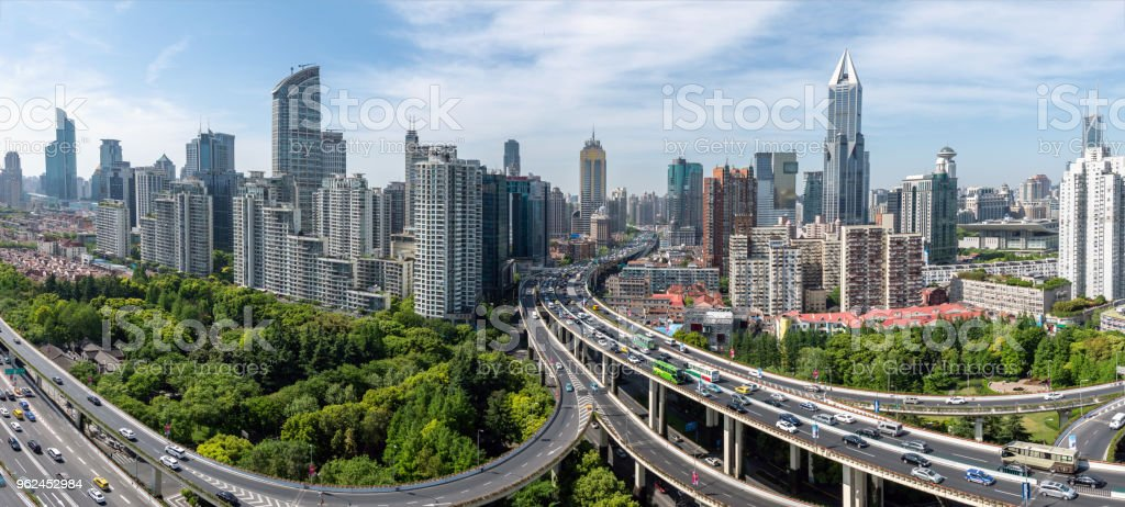 elevated roads in Shanghai stock photo