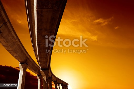 istock XXL elevated roadway at sunset 136902700