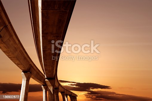 istock XXL elevated roadway at sunset 136902872
