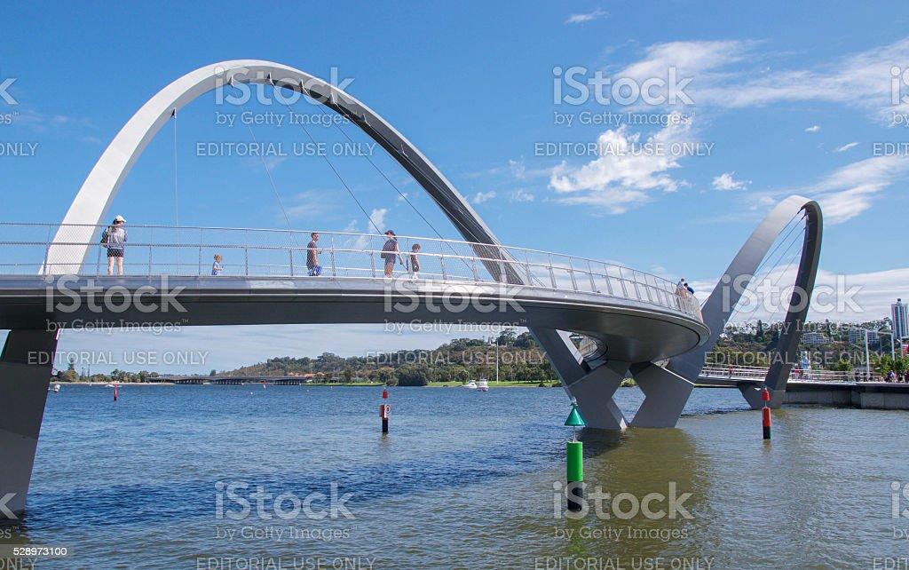 Elevated Suspension Bridge stock photo