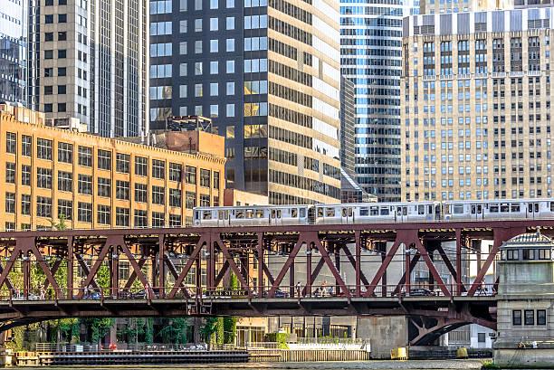 Elevated Train stock photo