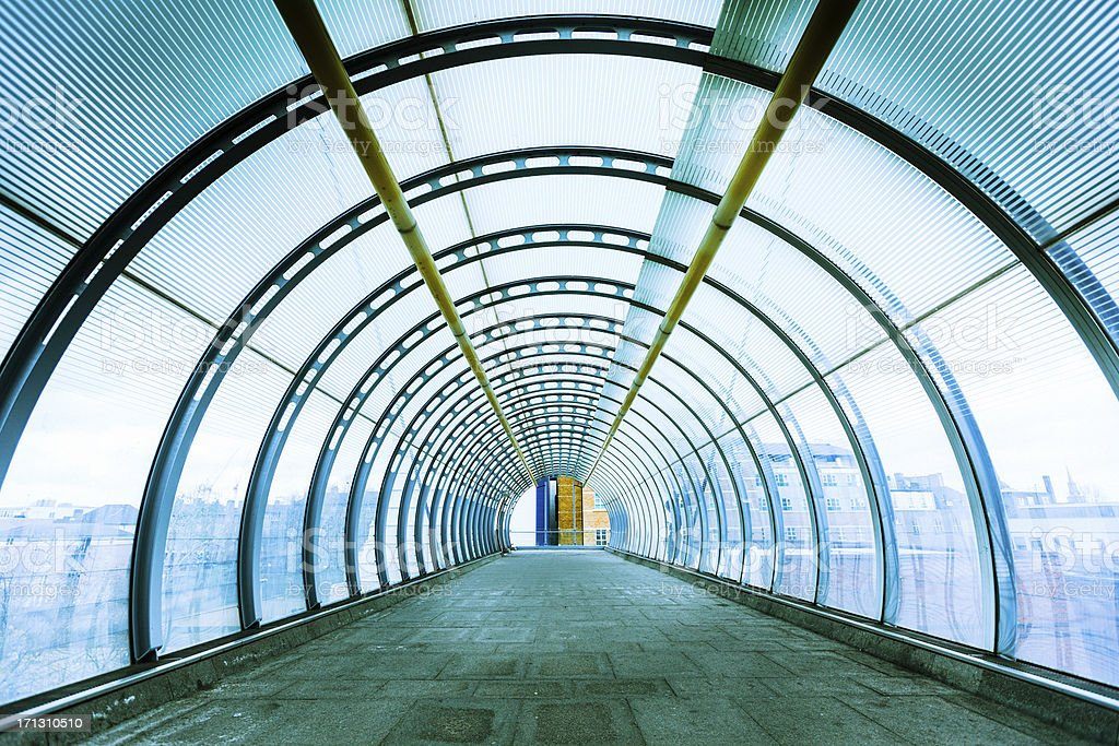 Elevated Tunnel in London stock photo