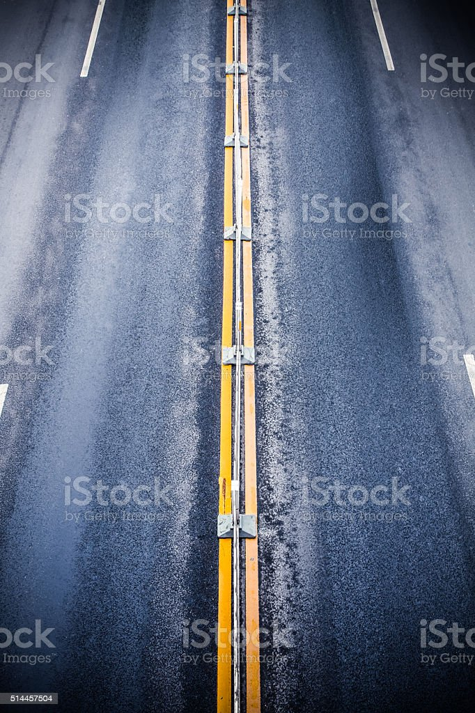 Elevated view of driveway in China stock photo