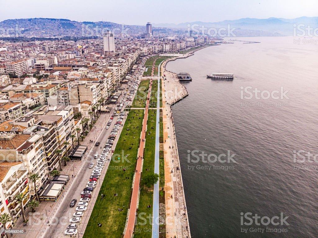 Elevated View Of Izmir Kordon Turkey Stock Photo Download Image Now Istock