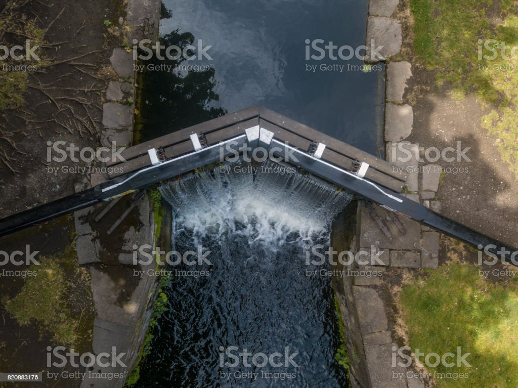 Elevated view of the Grand Canal, Dublin, Ireland royalty-free stock photo