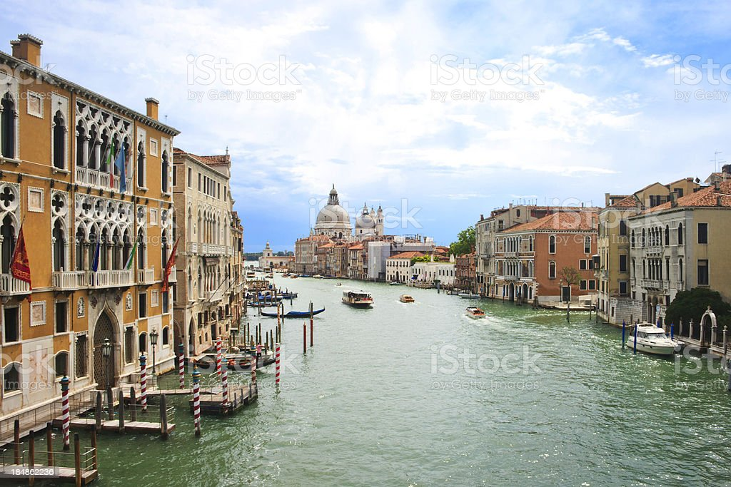 Elevated view of the Grand Canal in Venice royalty-free stock photo