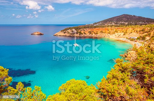 istock Elevated View on Cala D'hort on Ibiza 469753730