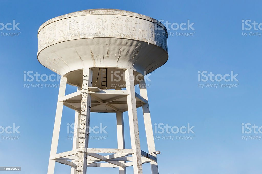 Elevated water tank royalty-free stock photo